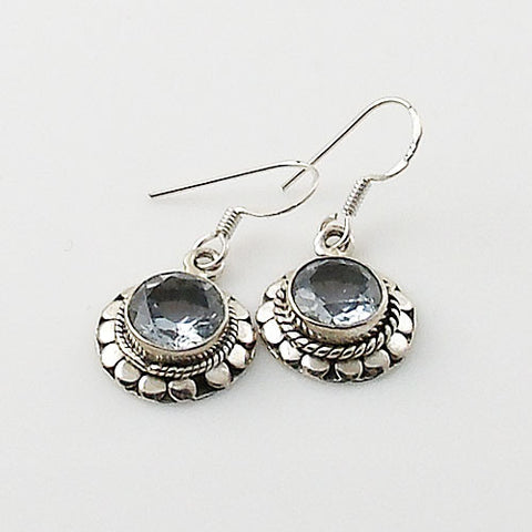 Alexandrite Sterling Silver Fancy Round Earrings - Keja Designs Jewelry