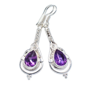 Amethyst Sterling Silver Earrings - Keja Designs Jewelry