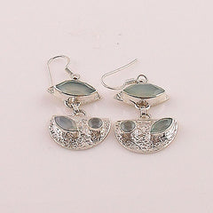 Aquamarine Sterling Silver Earrings - Keja Designs Jewelry
