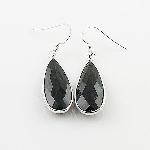 Black Onyx Sterling Silver Earrings - Keja Designs Jewelry