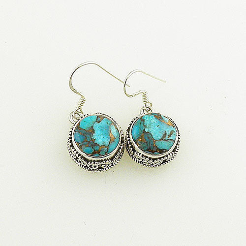 Blue Copper Turquoise Earrings - keja jewelry - Keja Designs Jewelry