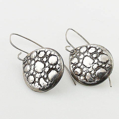 Cobble Stone .999 Fine Silver Earrings