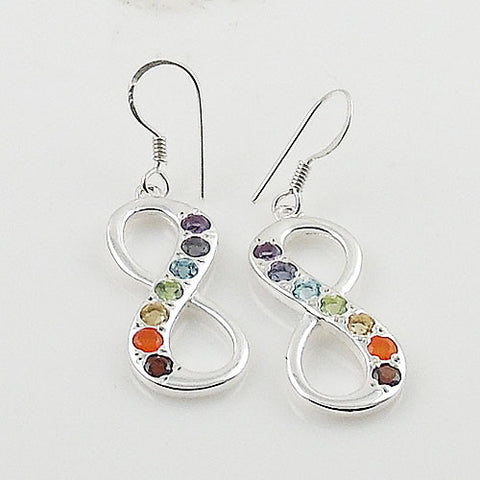 Chakra Infinite Sterling Silver Earrings