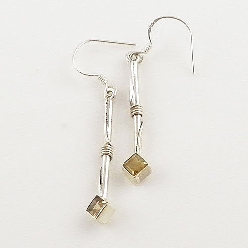 Citrine Sterling Silver Earrings - Keja Designs Jewelry