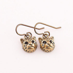 Animal Leopard Yellow Bronze Earrings - Keja Designs Jewelry