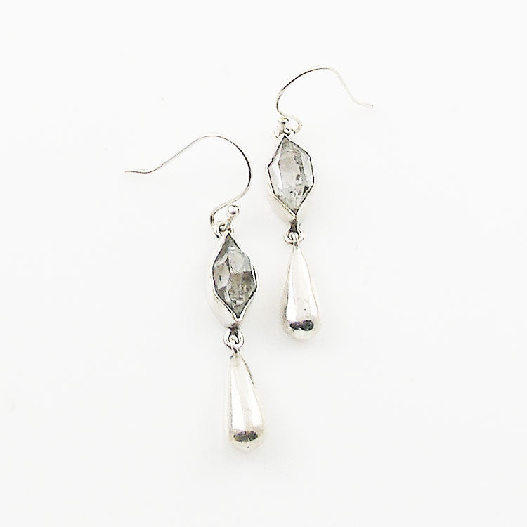 Herkimer Diamond Drop Sterling Silver Earrings - Keja Designs Jewelry