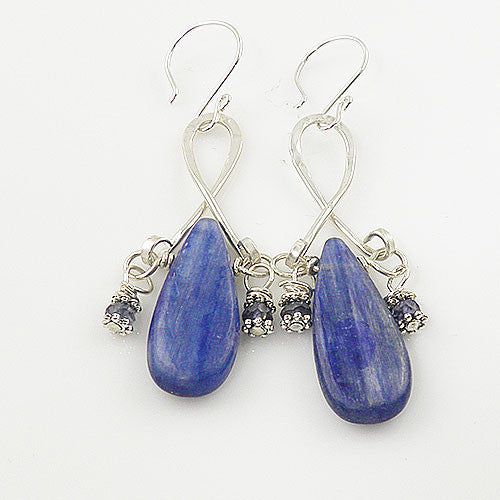 Kyanite Sterling Silver Dangle Earrings - keja jewelry - Keja Designs Jewelry