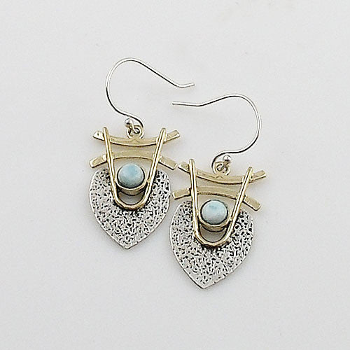 Larmiar Sterling Silver Two Tone Earrings - Keja Designs Jewelry