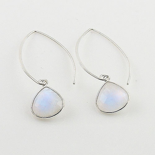 Moonstone Sterling Silver Pear Earrings - Keja Designs Jewelry