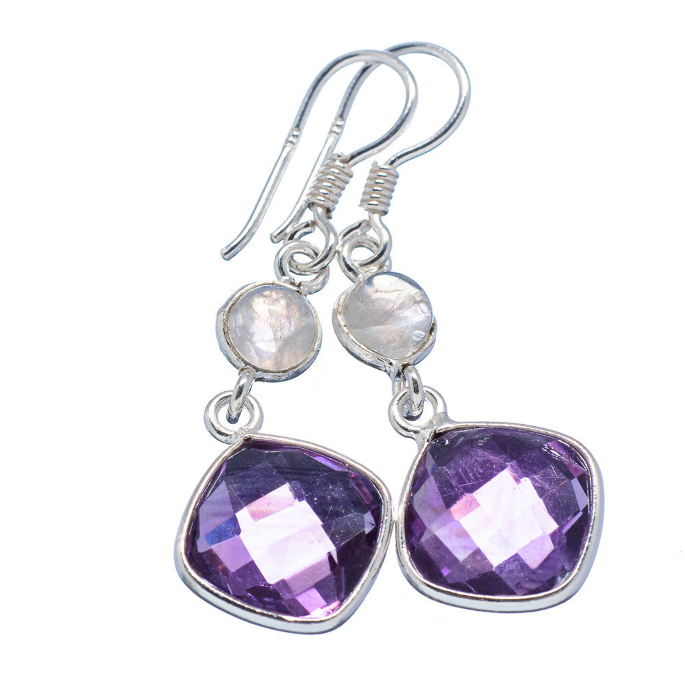Moonstone & Amethyst Sterling Silver Earrings - Keja Designs Jewelry
