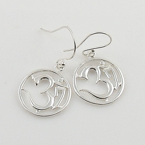 Om Sterling Silver Cut Out Earrings - Keja Designs Jewelry