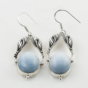 Owyhee Opal Sterling Silver Vine Earrings - Keja Designs Jewelry