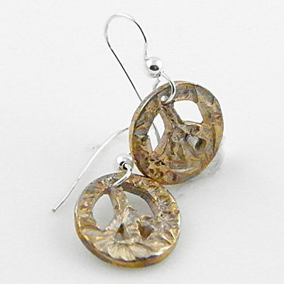 Peace Earrings - Pure Silver - Keja Designs Jewelry