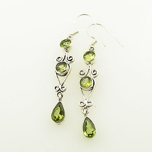 Peridot Sterling Silver Dangling Earrings - keja jewelry - Keja Designs Jewelry
