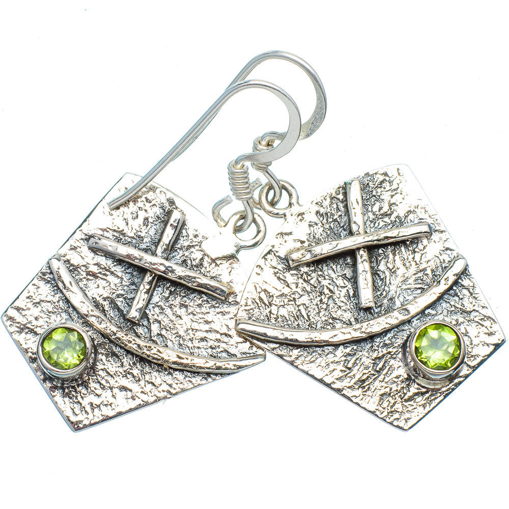 Peridot Sterling Silver XO Earrings - keja jewelry - Keja Designs Jewelry