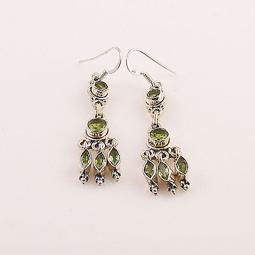 Peridot Sterling Silver Chandelier Earrings - keja jewelry - Keja Designs Jewelry