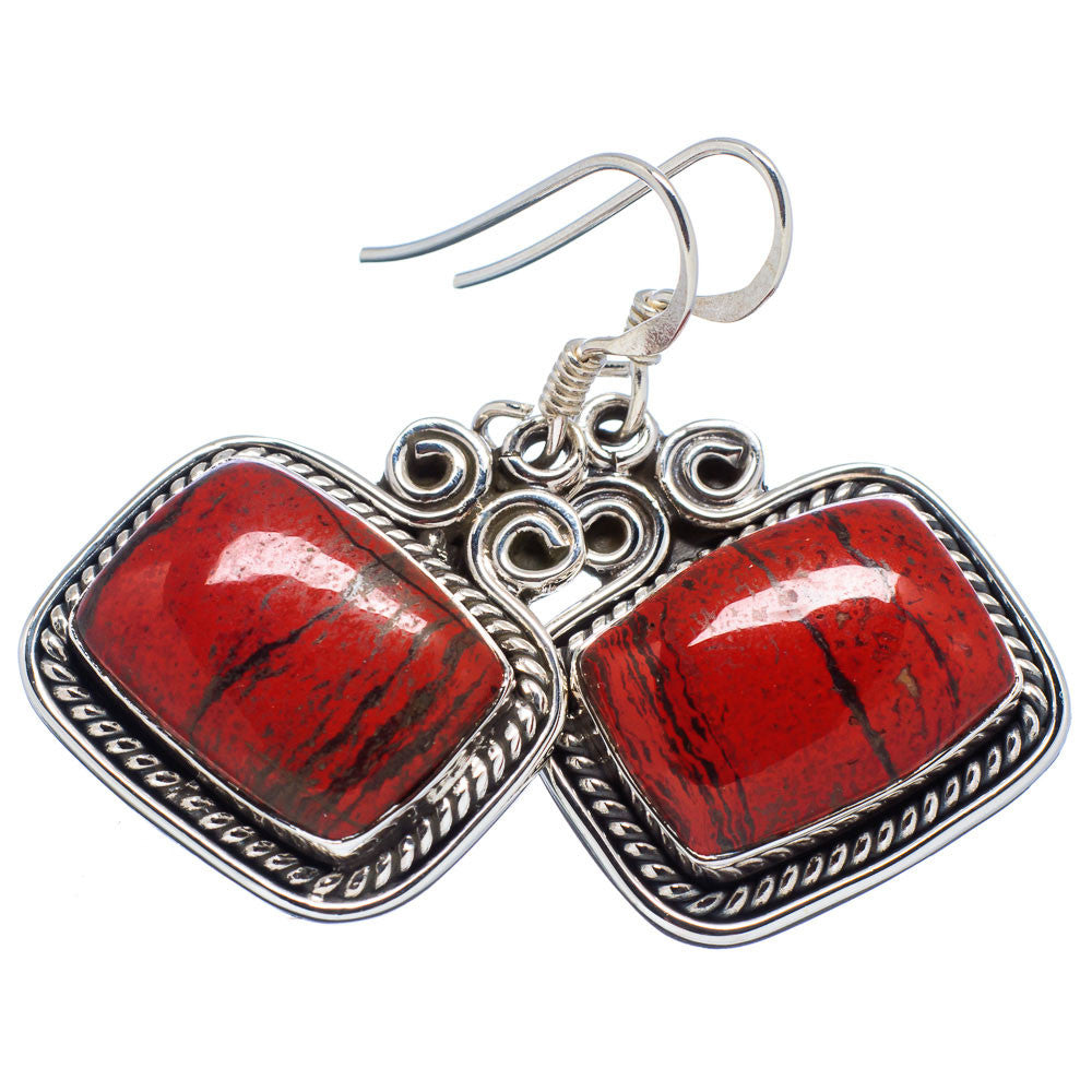 Red Jasper Sterling Silver Earrings - Keja Designs Jewelry