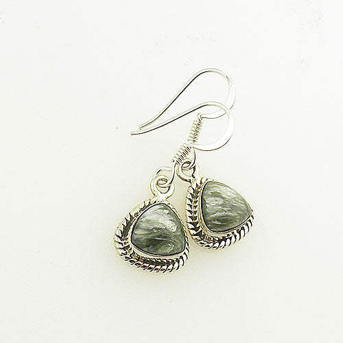 Seraphinite Sterling Silver Earrings - keja jewelry - Keja Designs Jewelry