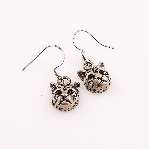 Animal Leopard White Bronze Earrings - Keja Designs Jewelry