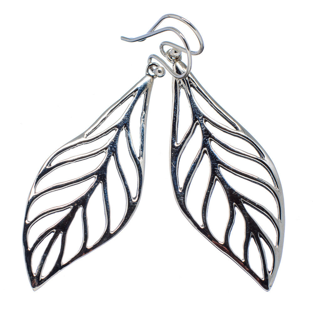 Leaf Sterling Silver Earrings - Keja Designs Jewelry