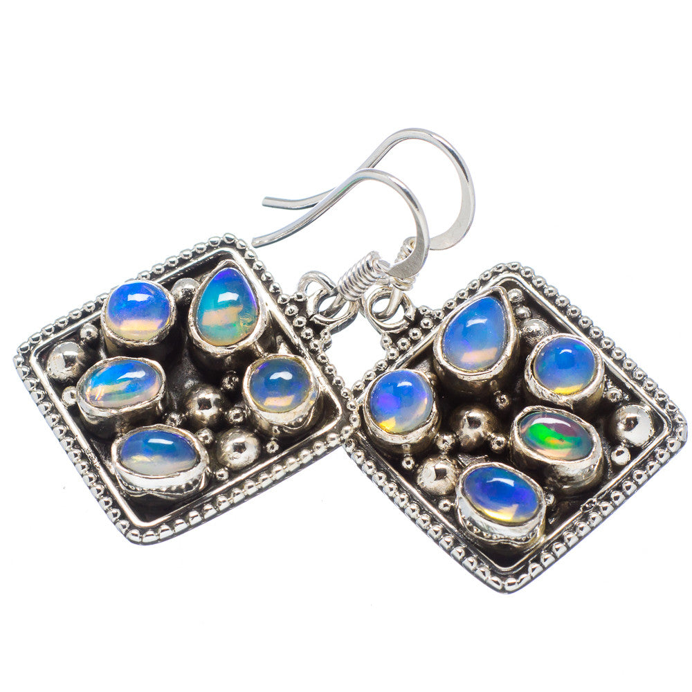 Ethiopian Opal Sterling Silver Earrings - Keja Designs Jewelry