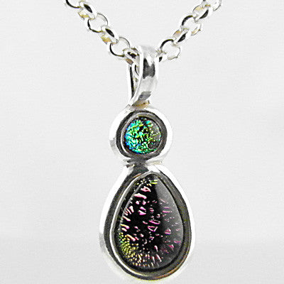 Green & Pink Pendant - Keja Designs Jewelry