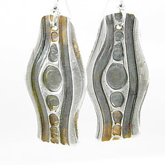 In the Flow - Pure Fine Silver Earrings - Keja Designs Jewelry