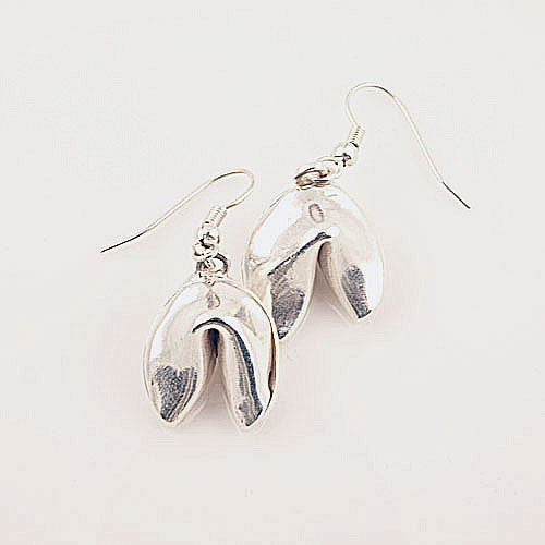 Fortune Cookie Earrings - Keja Designs Jewelry