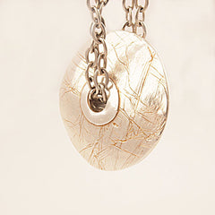 Pure Silver Disk - Full Circle - Pendant - Keja Designs Jewelry