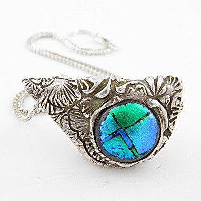 Ginko Leaf Glass Pendant - Keja Designs Jewelry