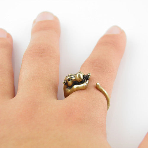 Animal Wrap Ring - Hippo - Bronze - Adjustable Ring - keja jewelry - Keja Designs Jewelry