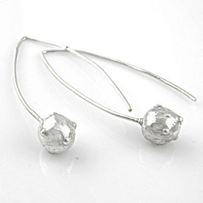 Canon Ball Pure FIne Silver Earrings - keja jewelry - Keja Designs Jewelry