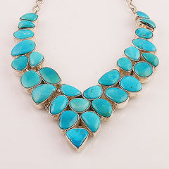 Blue Arizona Turquoise Sterling Silver Necklace - Keja Designs Jewelry
