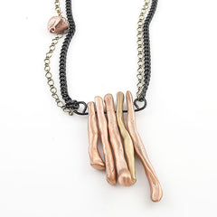Copper & Bronze 1 in 5 Two Tone Branch Necklace - Keja Designs Jewelry