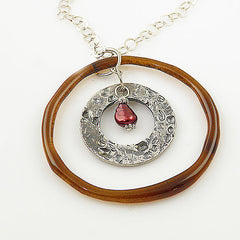 Smart Glass Pure Silver Circles Necklace - Keja Designs Jewelry