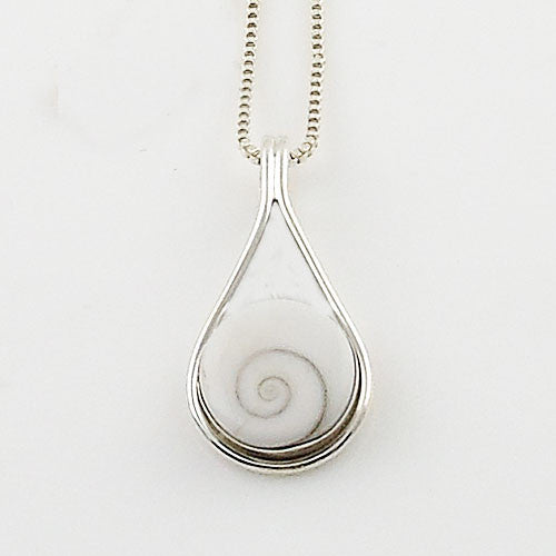 Eye of Shiva Sterling Silver Pendant - Keja Designs Jewelry