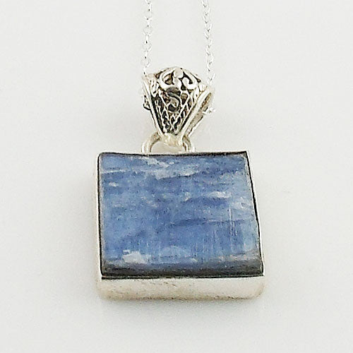 Kyanite Rough Sterling Silver Pendant - Keja Designs Jewelry