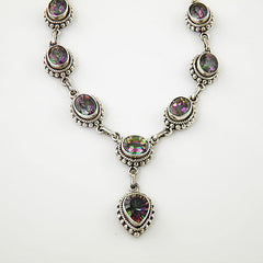 Mystic Topaz Sterling Silver Necklace - Keja Designs Jewelry