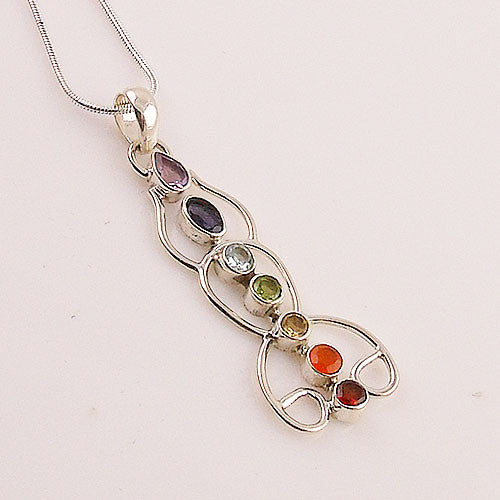 Chakra Yoga Sterling Silver Pendant - Keja Designs Jewelry
