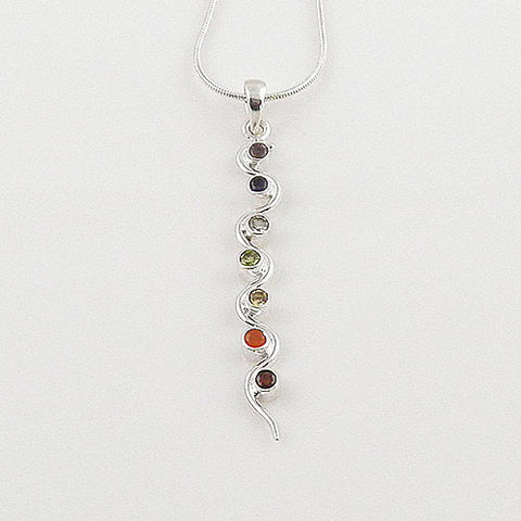 Chakra Scalloped Sterling Silver Pendant