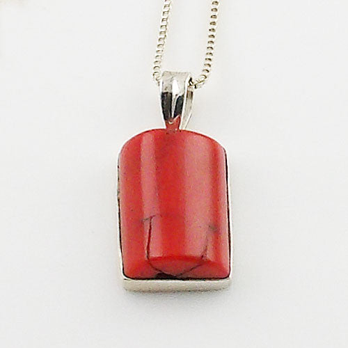 Italian Coral Sterling Silver Pendant - Keja Designs Jewelry