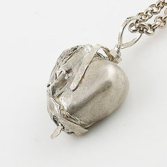 Wrapped in My Love Heart Fine Silver Pendant - Keja Designs Jewelry