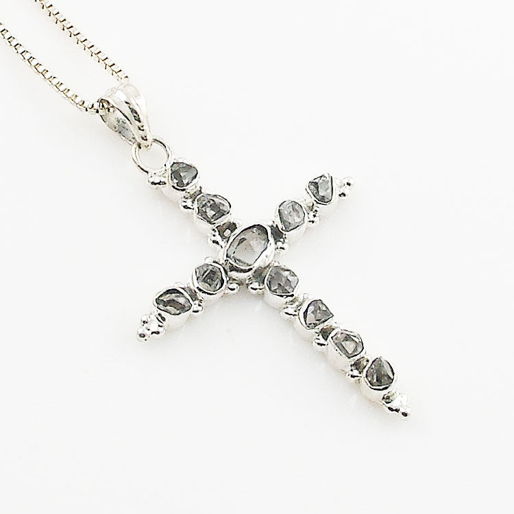 Herkimer Cross Sterling Silver Pendant - Keja Designs Jewelry