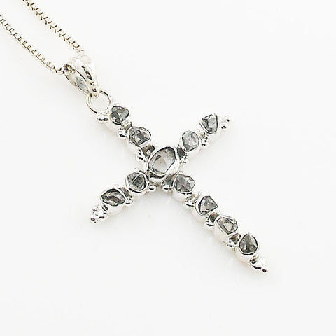Herkimer Cross Sterling Silver Pendant