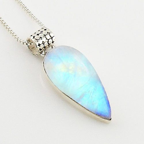 Moonstone Mod Sterling Silver Pendant - Keja Designs Jewelry
