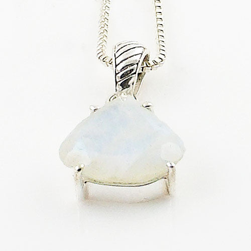 Moonstone Solitaire Sterling Silver Pendant - Keja Designs Jewelry