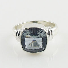 Alexandrite Cushion Cut Sterling Silver Ring - Keja Designs Jewelry