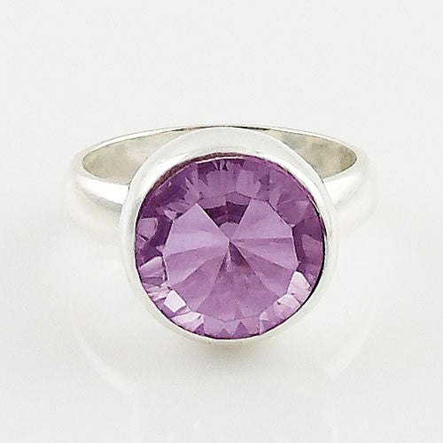 Alexandrite Solitaire Sterling Silver Ring - Keja Designs Jewelry