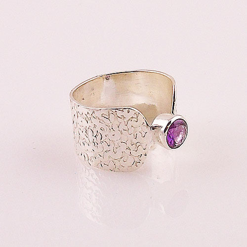 Amethyst Sterling Silver Band Ring - Keja Designs Jewelry