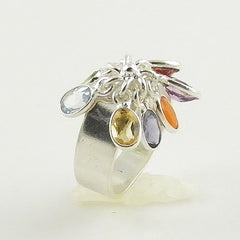 Multi Gemstone Sterling Silver Chakra Ring - keja jewelry - Keja Designs Jewelry